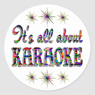 About Karaoke Classic Round Sticker