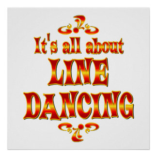 ABOUT LINE DANCING POSTER