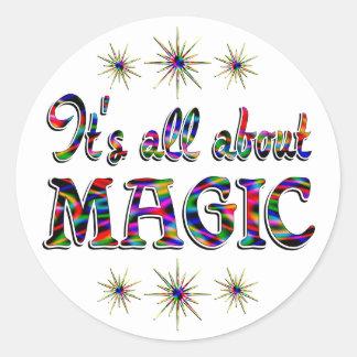 About Magic Round Sticker