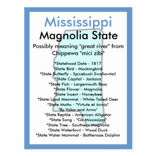 About Mississippi Postcard