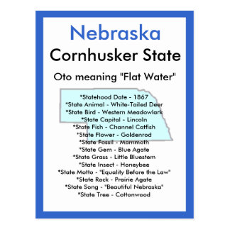 About Nebraska Postcard