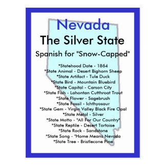 About Nevada Postcard