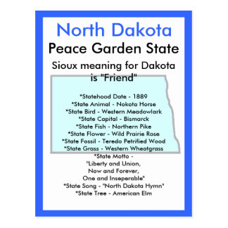 About North Dakota Postcard