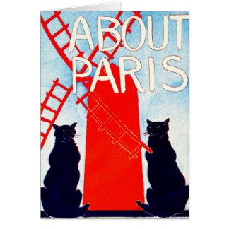 About Paris Advertisement 1895 Card