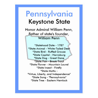 About Pennsylvania Postcard