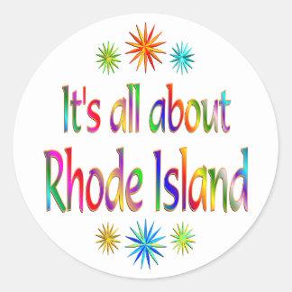 About Rhode Island Classic Round Sticker
