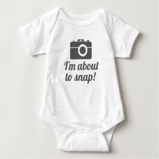 About to Snap Baby Bodysuit
