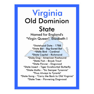 About Virginia Postcard