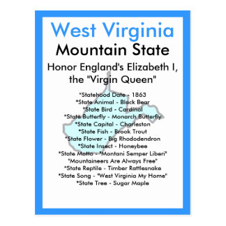 About West Virginia Postcard