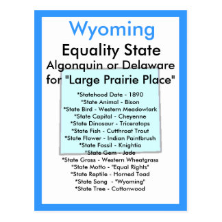 About Wyoming Postcard