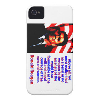 Above All We Must Realize - Ronald Reagan iPhone 4 Covers