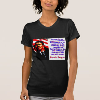 Above All We Must Realize - Ronald Reagan T-Shirt