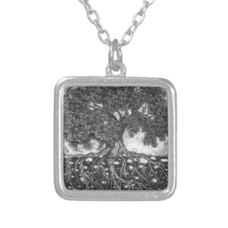 Above and Below 600 DPI Silver Plated Necklace