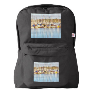 Above and below backpack