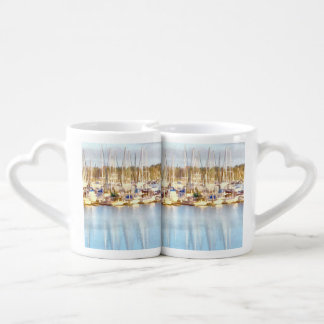 Above and below coffee mug set