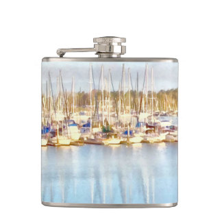 Above and below hip flask