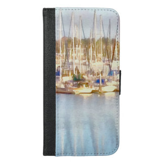 Above and below iPhone 6/6s plus wallet case