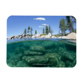 Above and below Lake Tahoe Magnet