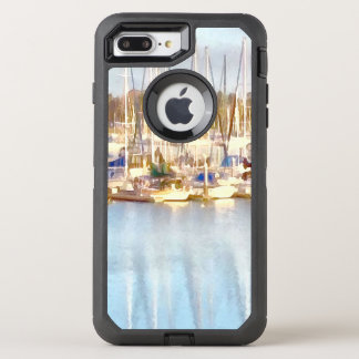 Above and below OtterBox defender iPhone 8 plus/7 plus case