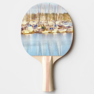 Above and below ping pong paddle