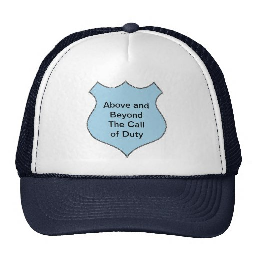 Above and Beyond the Call of Duty Badge Hats