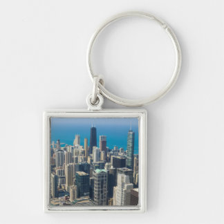 Above Chicago Keychain