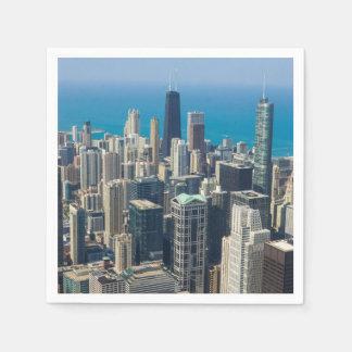 Above Chicago Paper Napkins