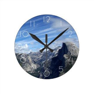 Above Half Dome Round Clock