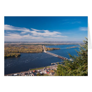 Above Mississippi River and Dam at Alma Card