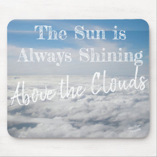 Above the Clouds Blue White Nature Sky Mousepad
