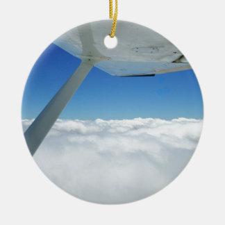 Above the clouds ceramic ornament