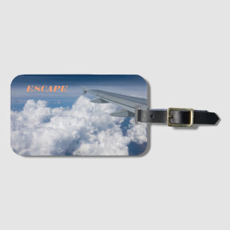 Above the clouds luggage tag