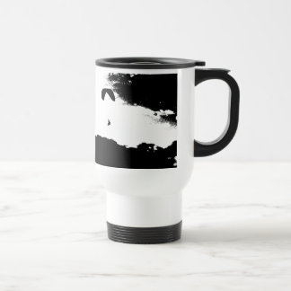 above the clouds, paragliding travel mug