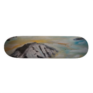 Above the clouds skateboard deck