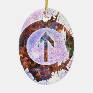 Above The Influence Ceramic Oval Ornament