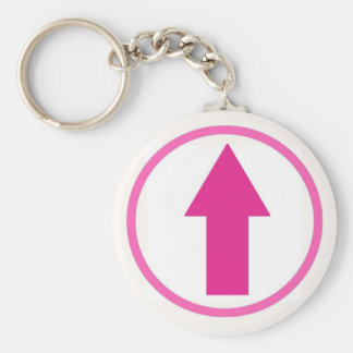 Above the influence - Pink Basic Round Button Keychain