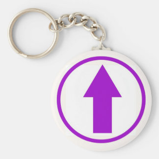 Above the influence - Purple Keychain