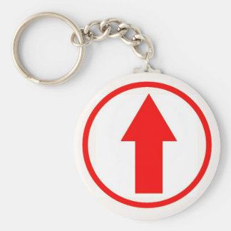 Above the influence - Red. Basic Round Button Keychain