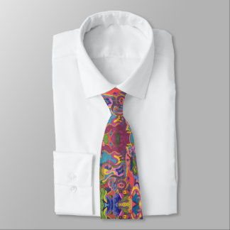 """Above the Storm"" mirrored pattern Tie"