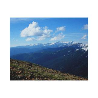 Above Tree-Line, Berthoud Pass Colorado Art Canvas Canvas Print