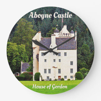 Aboyne Castle – House of Gordon Large Clock