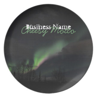 ABPAG Aurora Borealis Purple and Green Dinner Plates