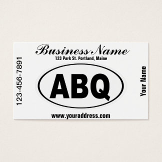 ABQ Albuquerque New Mexico Business Card