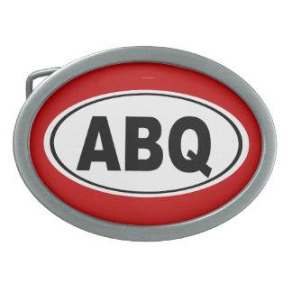 ABQ Albuquerque New Mexico Oval Belt Buckle
