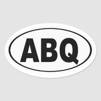 ABQ Albuquerque New Mexico Oval Sticker