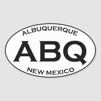 ABQ - Albuquerque New Mexico Oval Sticker