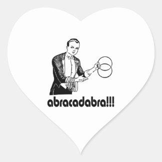 Abracadabra  Magician Heart Sticker