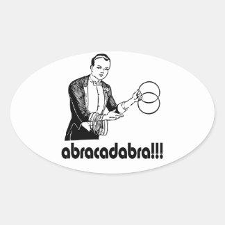Abracadabra  Magician Oval Sticker