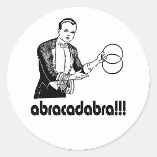 Abracadabra  Magician Round Sticker