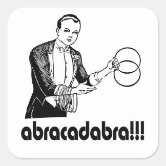 Abracadabra  Magician Square Sticker